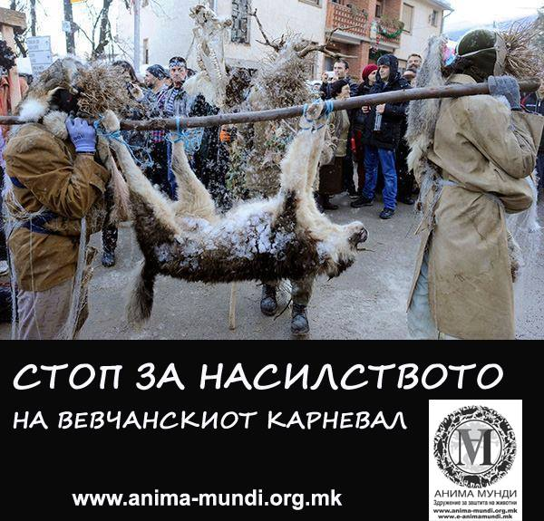 Анима Мунди: Апел за ненасилство врз животните за време на Вевчанскиот Карневал