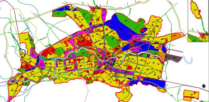 ГУП на град Скопје 2012-2022 - План на намена на површините - наменски зони
