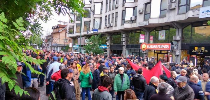 [Фото] Шарена револуција повторно на улица, граѓаните протестираат против корумпираното судство