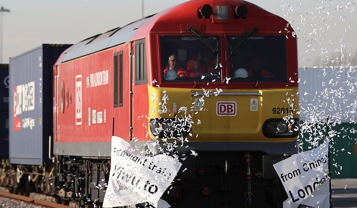 Обновен  Патот на свилата   откако товарен воз од Кина стигна во Лондон