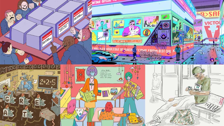 galerija-petmina-umetnici-go-prikazhuvaat-sovremeniot-svet-kako-orvelovskata-distopija