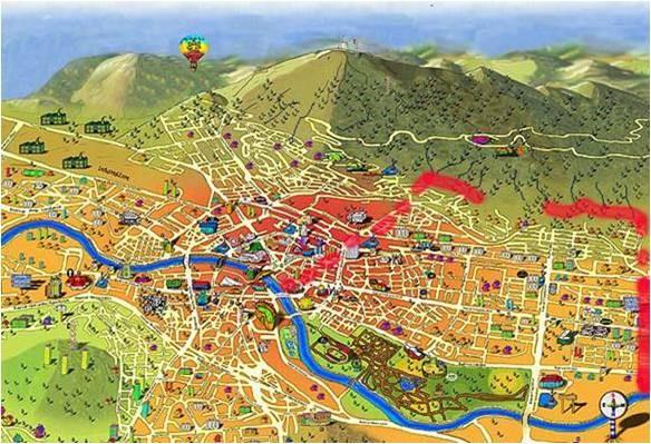 Визуелен приказ на Водно и Скопје