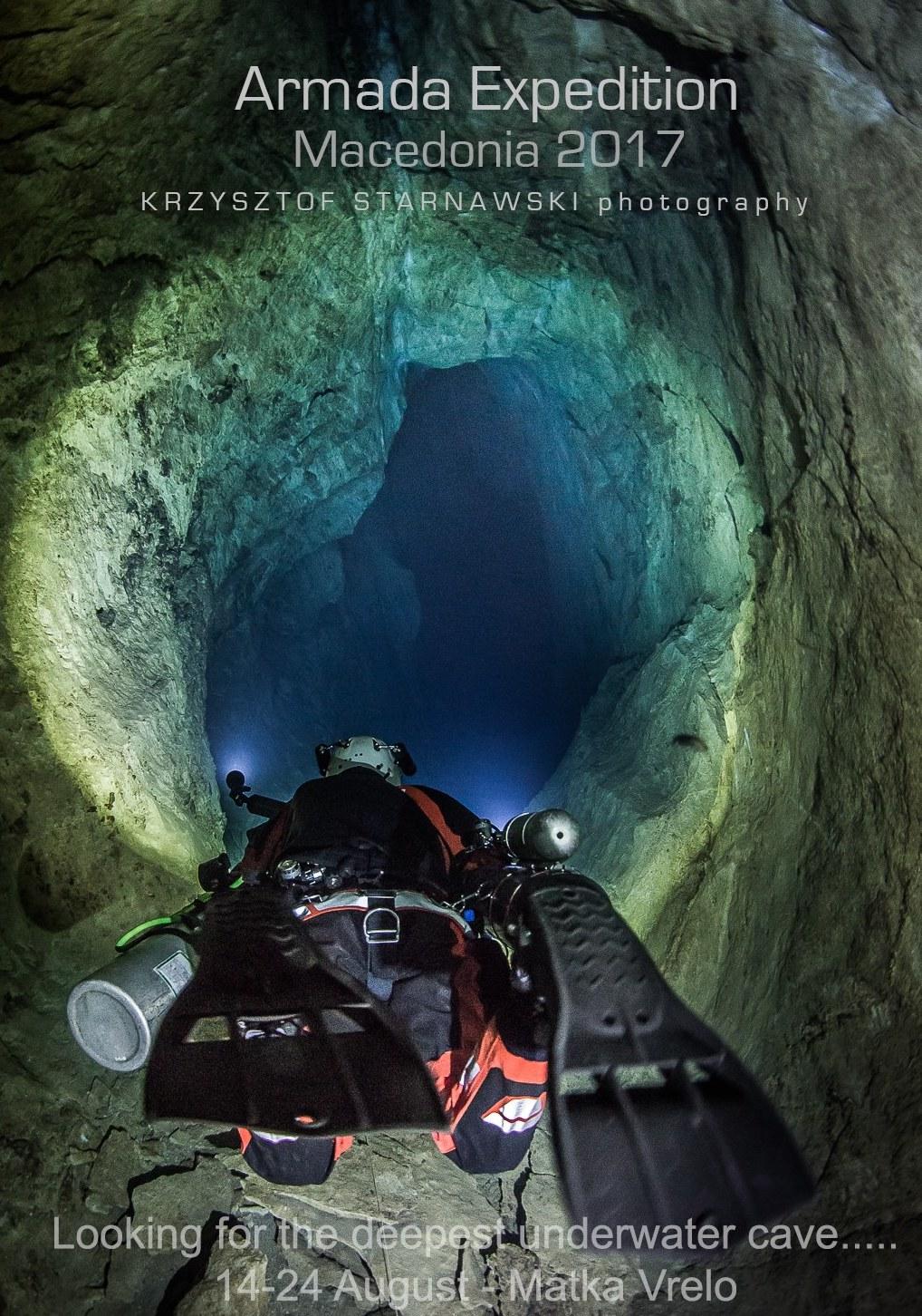 Старнавски нурна до рекордни 240 метри во пештерата Врело на Матка