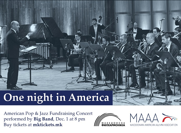 One night in America    добротворен концерт на американска музика